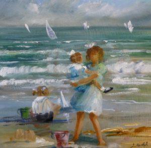 Scène de plage